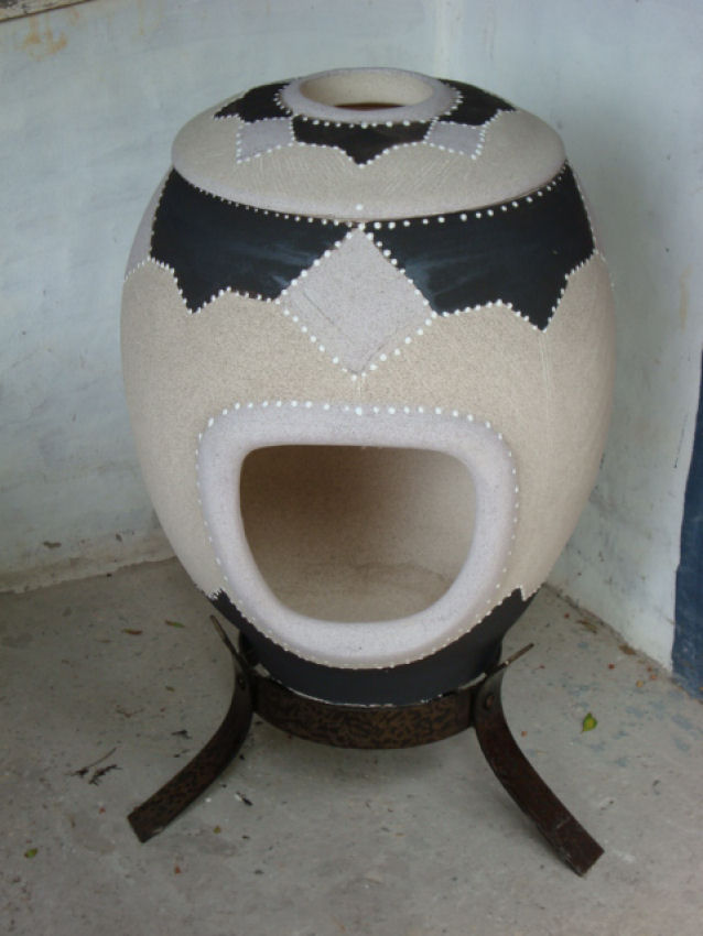 Large Glazed Decorated – Ethnic Egg