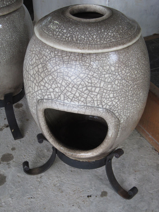 Large Undecorated Raku – White raku