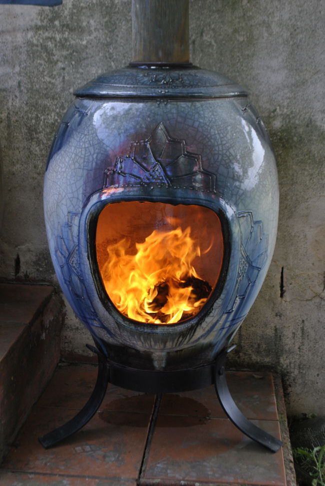 freestanding ceramic fireplaces