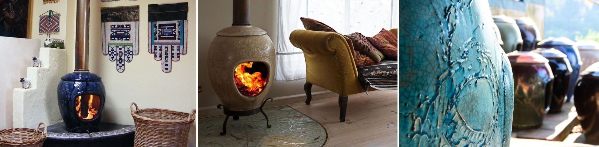Hot Art original free standing ceramic fireplaces